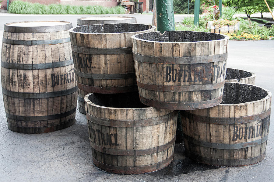 Kentucky Photograph - Buffalo Trace Barrels by John Daly