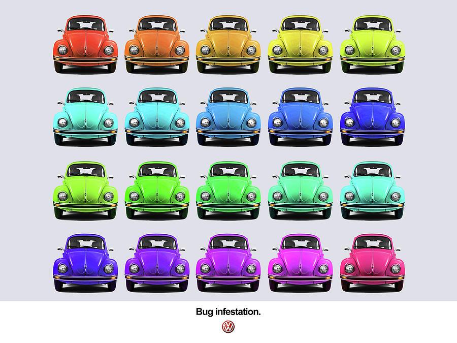 Volkswagen Beetle Photograph - Bug Infestation. by Mark Rogan