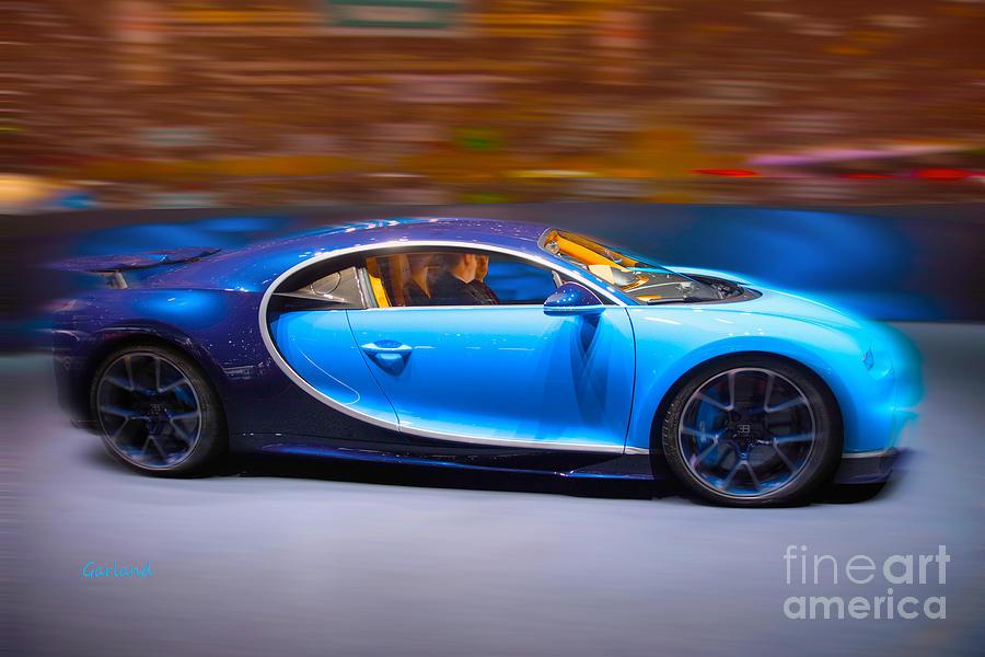Car Mixed Media - Bugatti Chiron 3 by Garland Johnson