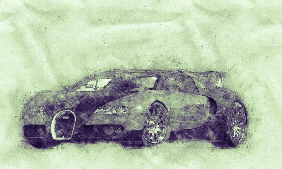 Bugatti Veyron Eb 16.4 - Sports Car 3 - Automotive Art - Car Posters Mixed Media