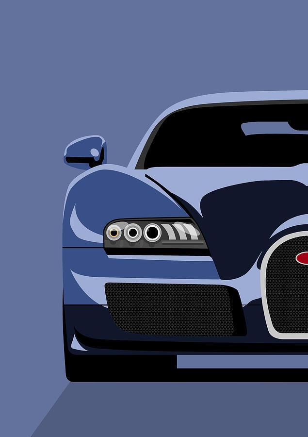 Bugatti Veyron Digital Art - Bugatti Veyron by Michael Tompsett