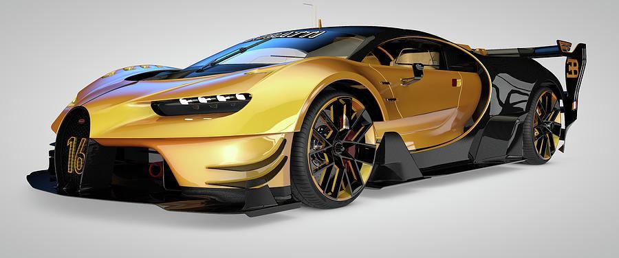 Bugatti Vision Gran Turismo Digital Art by Louis Ferreira on mitsubishi gt vision, renault alpine gt vision, subaru viziv gt vision, bmw gt vision,
