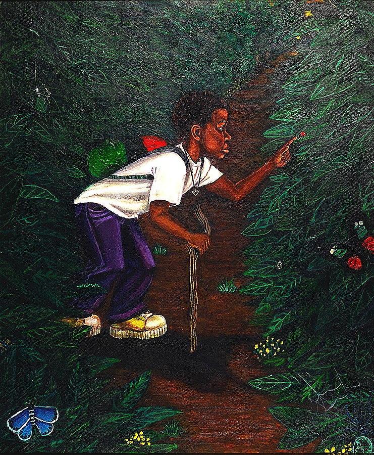 Malik Painting - Buggin Out1 by Malik Seneferu