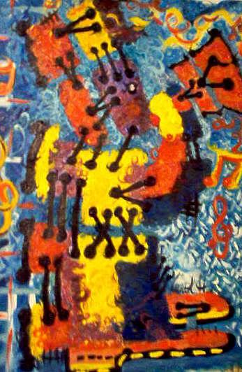 Bugle Boy No.2 Painting by Carol Huguley