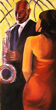 Figurative Painting - Bugle Players by Debora Calicchia