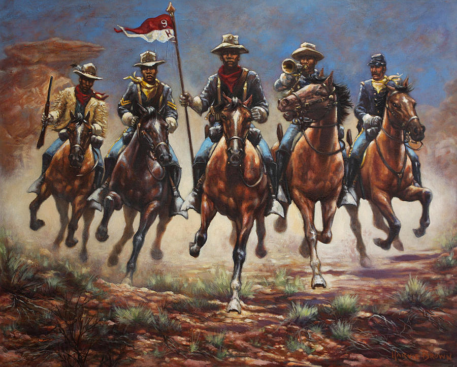 Bugler And The Guidon by Harvie Brown