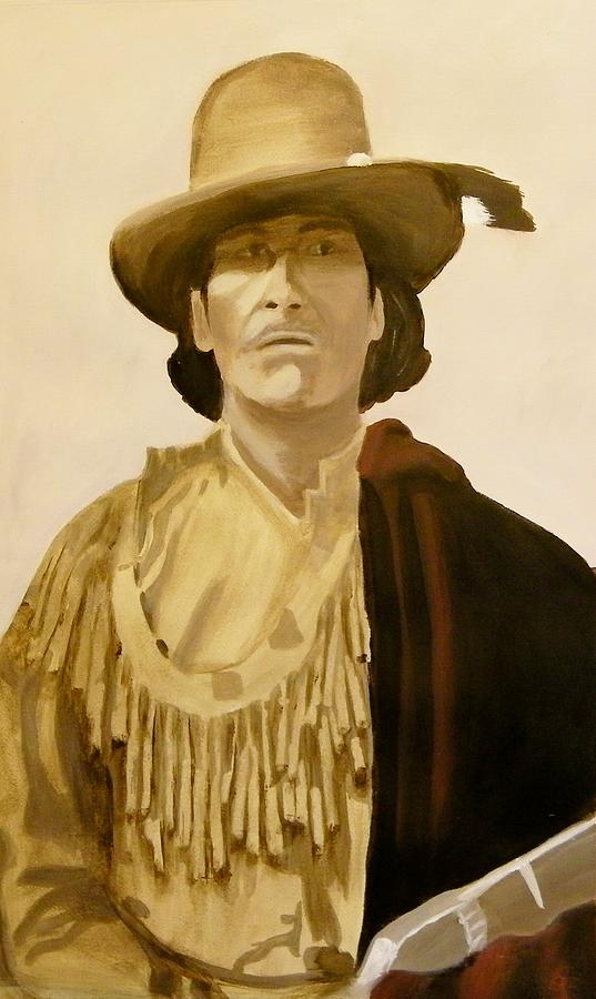 Chippewa Painting - Bugonageshik Hole In The Day by Terry Honstead
