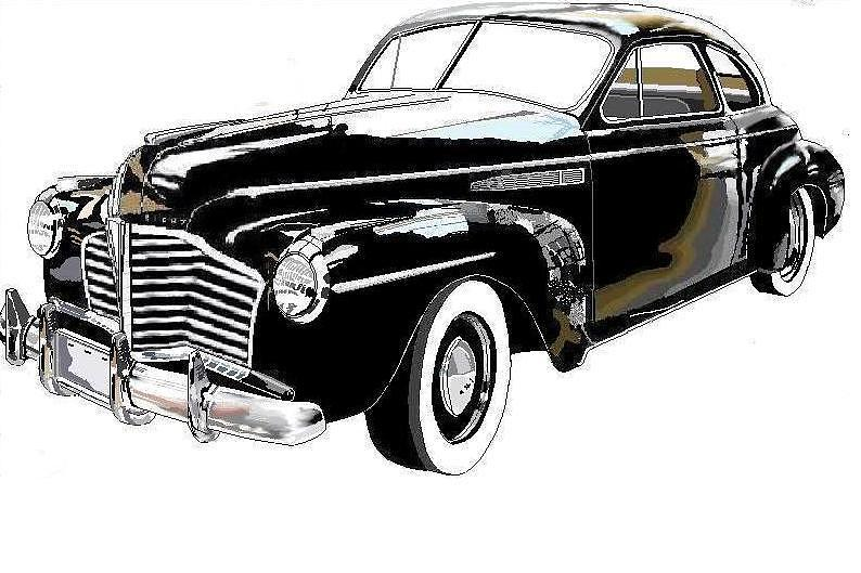 Classic Cars Drawing - bUICK 1941 by Alberto Schlossberg