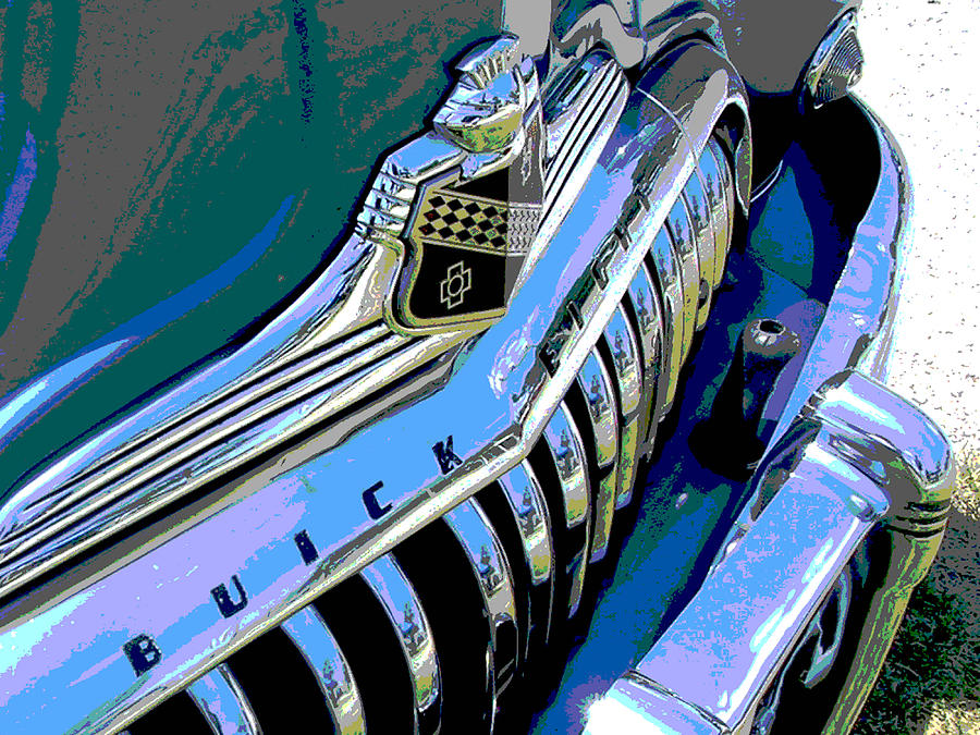 Car Photograph - Buick Eight by Audrey Venute