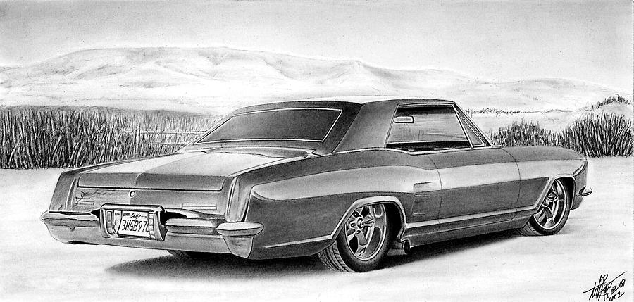 Automobile Drawing - Buick In The Weeds 2 by Lyle Brown