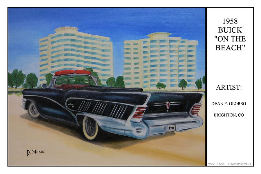 Buick Painting - Buick On The Beach by Dean Glorso