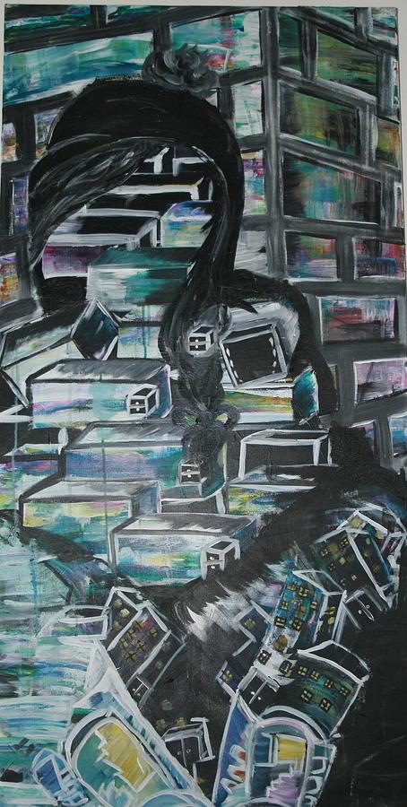 Bricks Painting - Build Me Up by Casey Jones