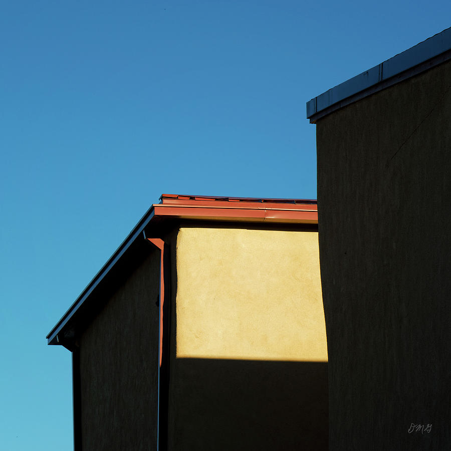 Color Photograph - Building In Light And Shadow  I Sq by David Gordon