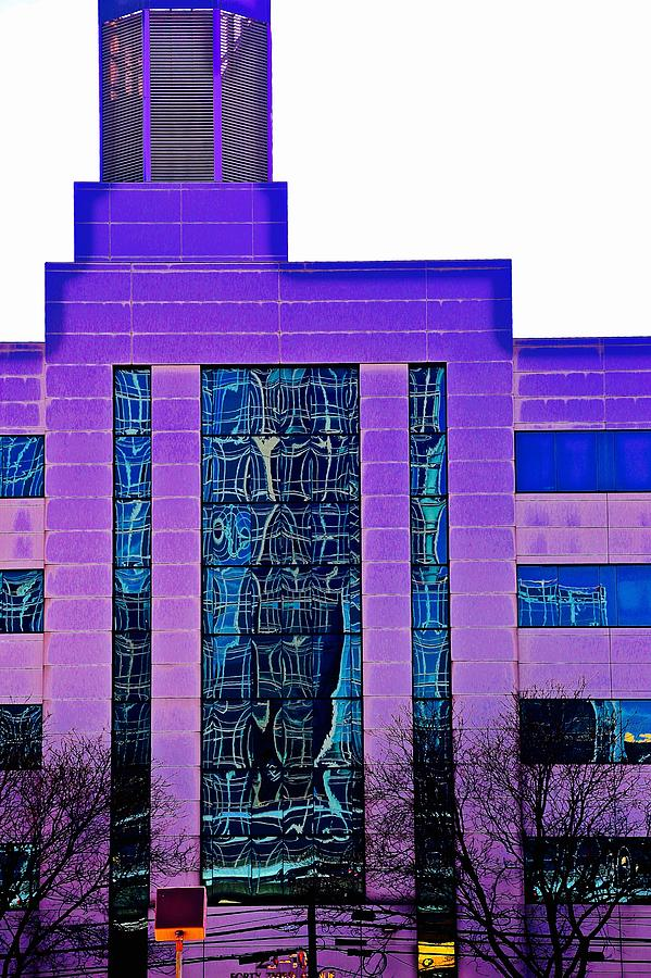 Building Photograph - Building In Purple by Gillis Cone