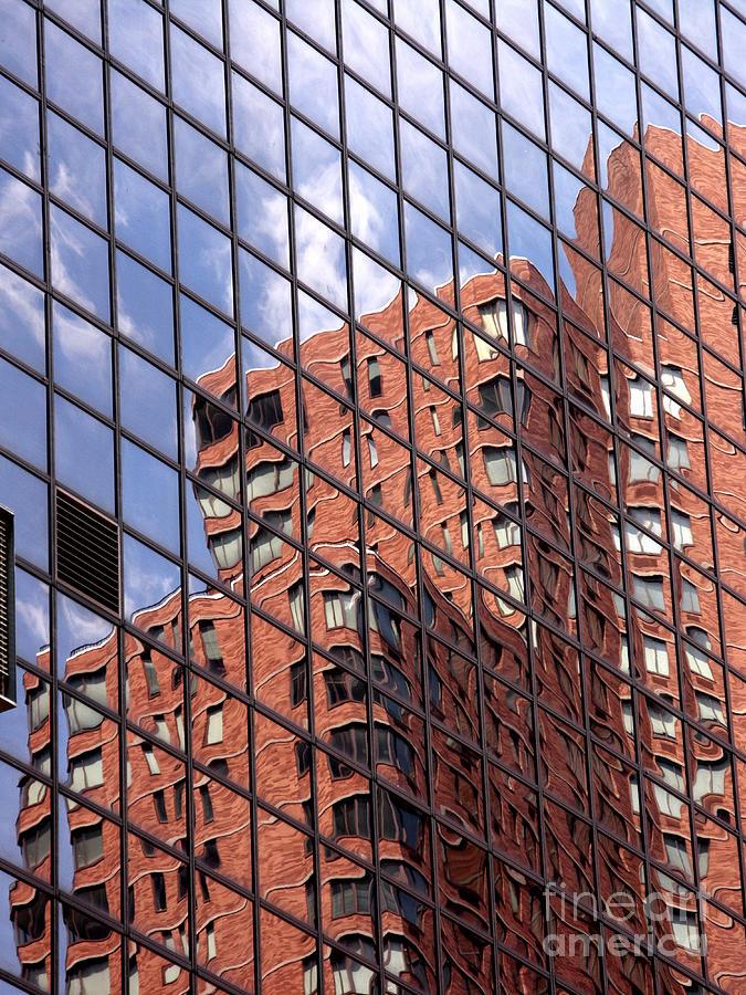Abstract Photograph - Building Reflection by Tony Cordoza