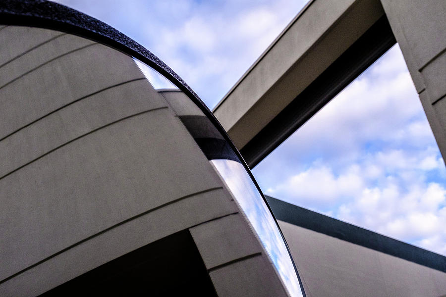 Buildings And Shapes With A Blue Sky In Orlando Florida by John McLenaghan