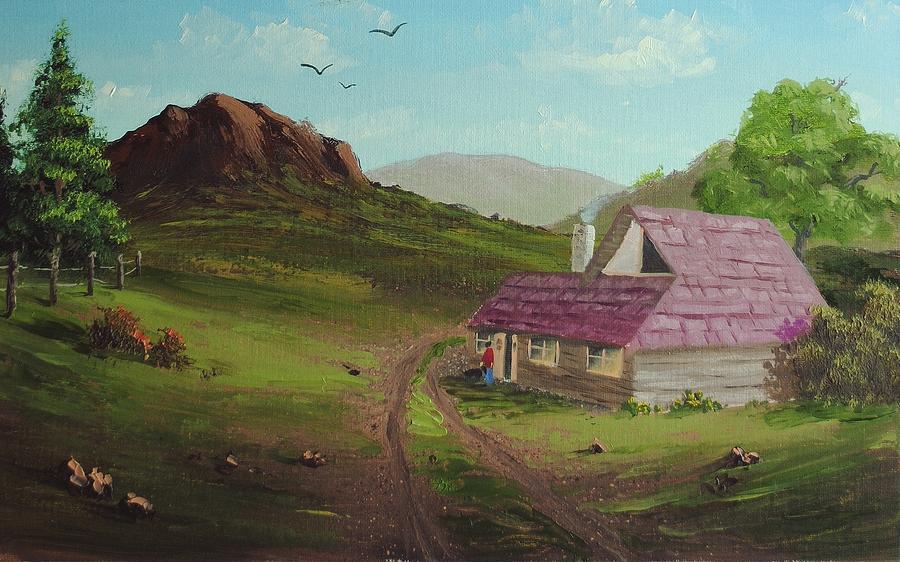 Oil Painting - Buildings In Landscape by Nolan Clark