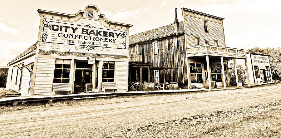 History Photograph - Buildings In The Eighteen Hundreds Town Of Fort Steele Bc Canada by Emilio Lovisa