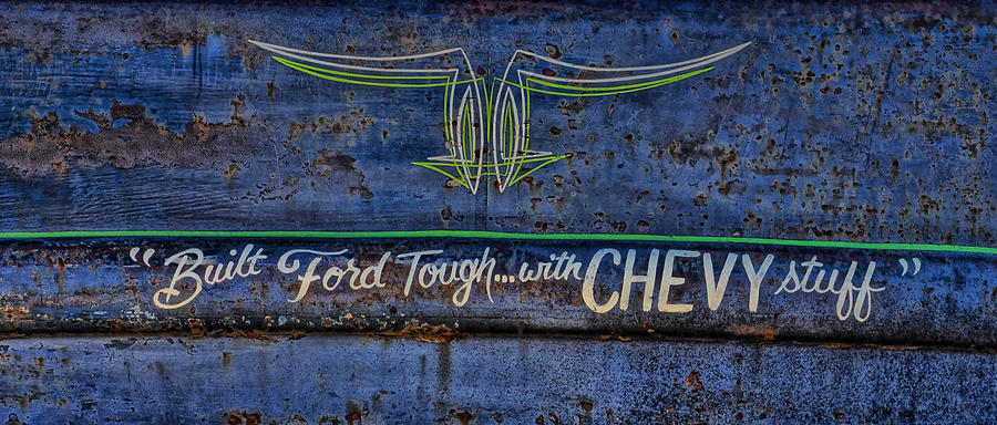 Ratrod Photograph - Built Ford Tough With Chevy Stuff by Alan Hutchins
