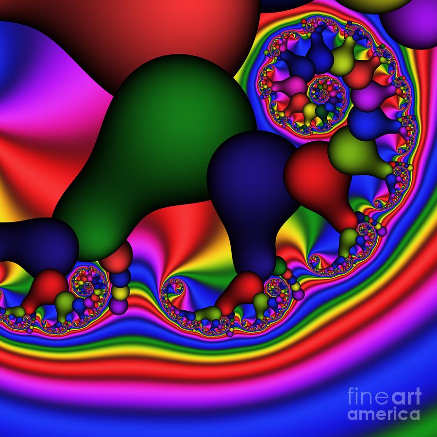 Abstract Digital Art - Bulb Spiral 197 by Rolf Bertram
