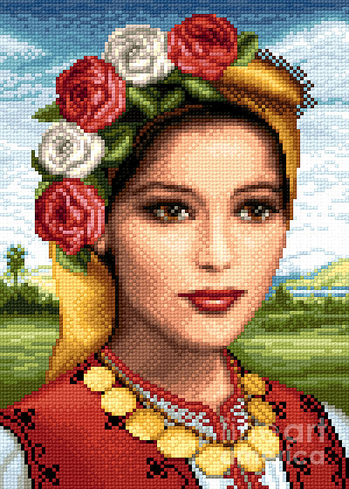 Flowers Tapestry - Textile - Bulgarian Beauty by Stoyanka Ivanova