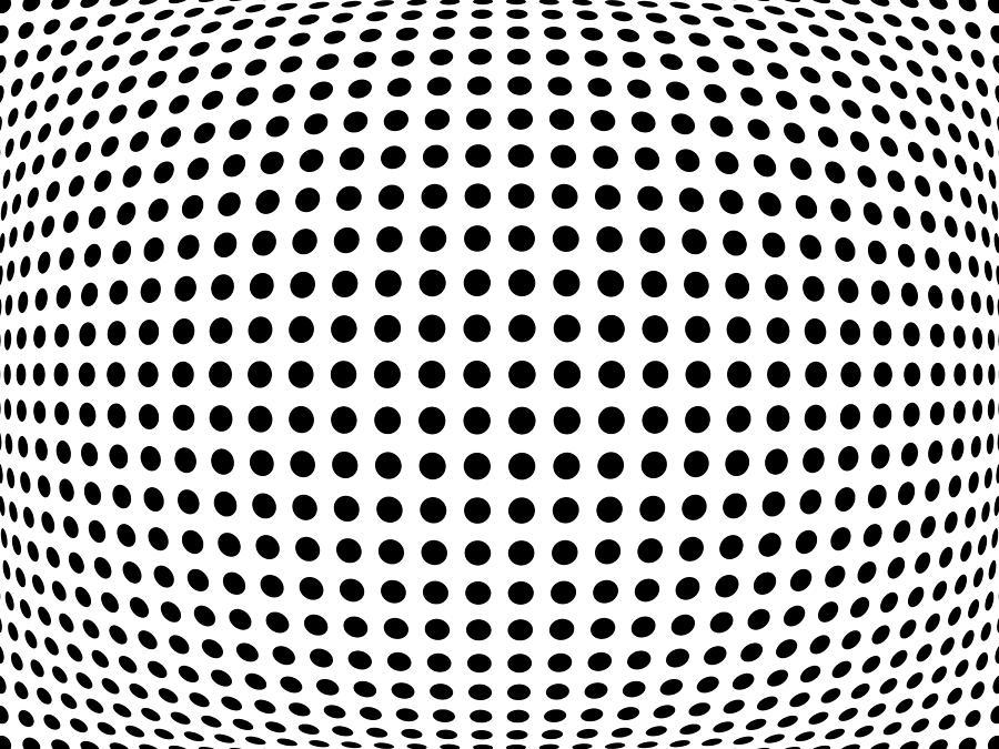 Abstract Digital Art - Bulge Dots by Michael Tompsett