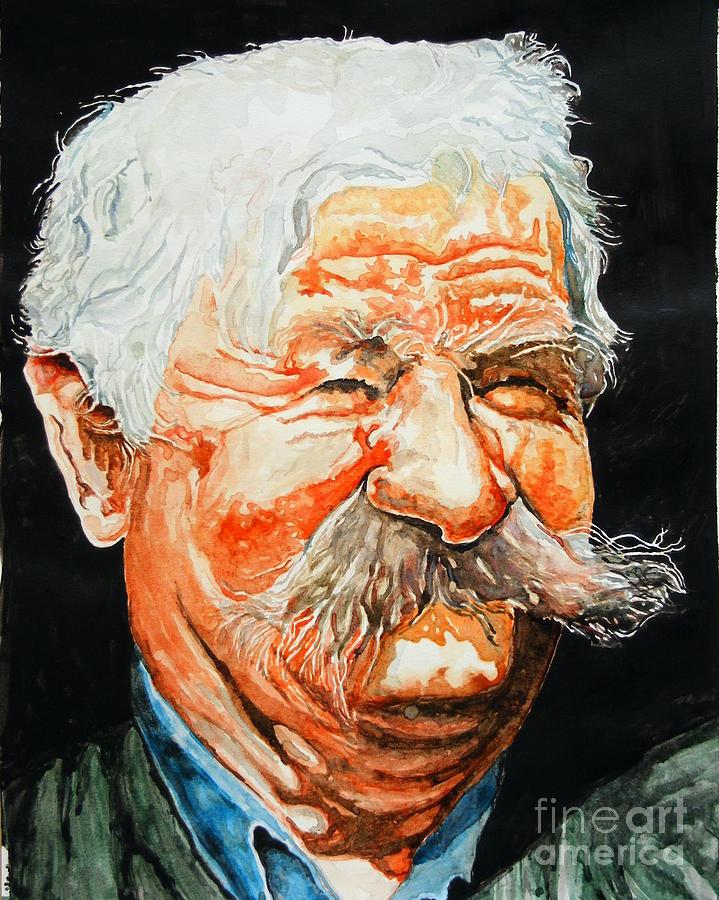 Mustache Painting - Bulibasa by Ciocan Tudor-cosmin