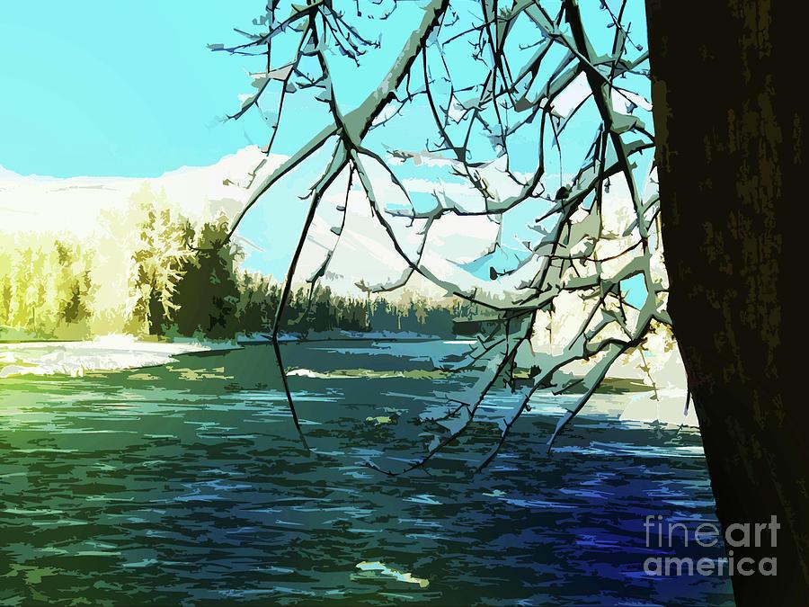 Bulkley River, dead of winter by Anne Havard