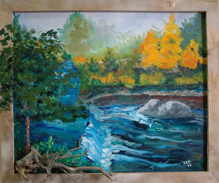 Landscape Painting - Bull Creek by James Eugene  Moore