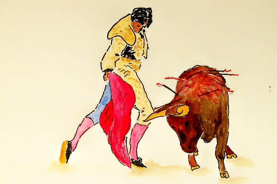 Spain Painting - Bull Fighter by Leo Gordon