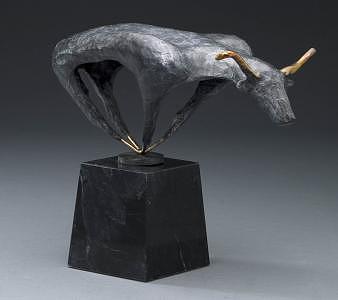 Bull Sculpture by Marsha De Broske