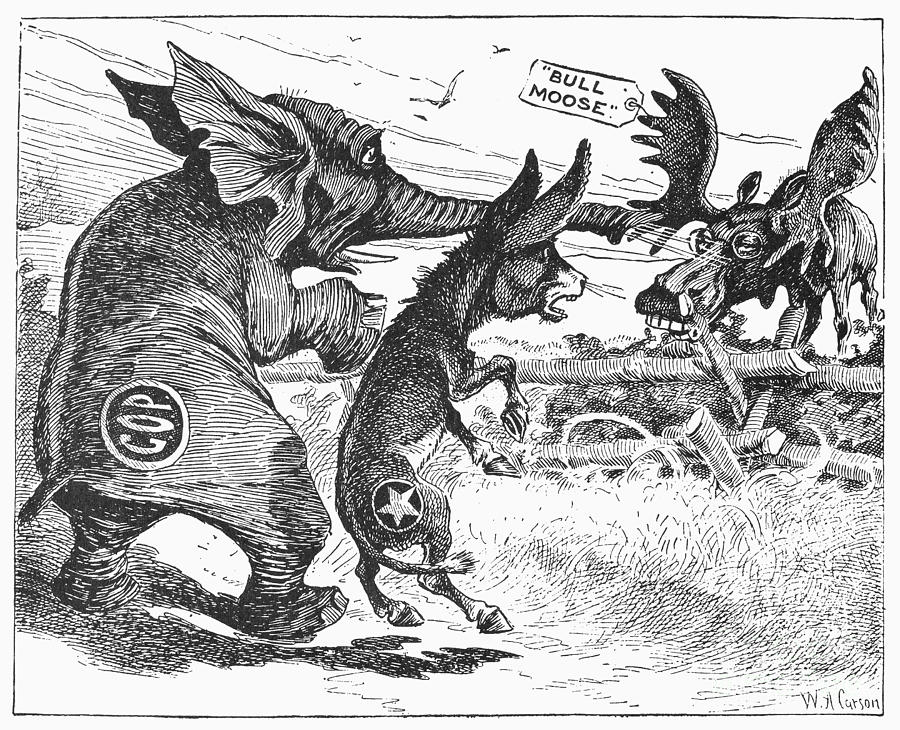 the bull moose campaign of 1912 Bull moose campaign, 1912 bull moose party presidential campaign symbol for theodore roosevelt, 1912 from granger - historical picture archive.