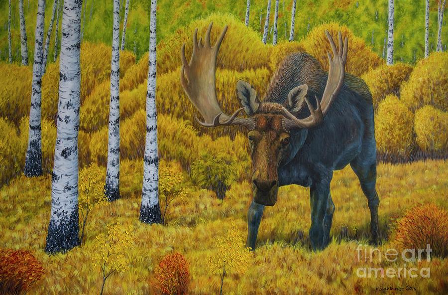 Animal Painting - Bull Moose by Veikko Suikkanen
