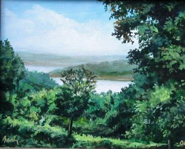 Landscape Painting - Bull Shoals by William Brody
