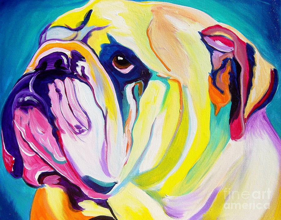 Colorful Painting   Bulldog   Bully By Alicia VanNoy Call
