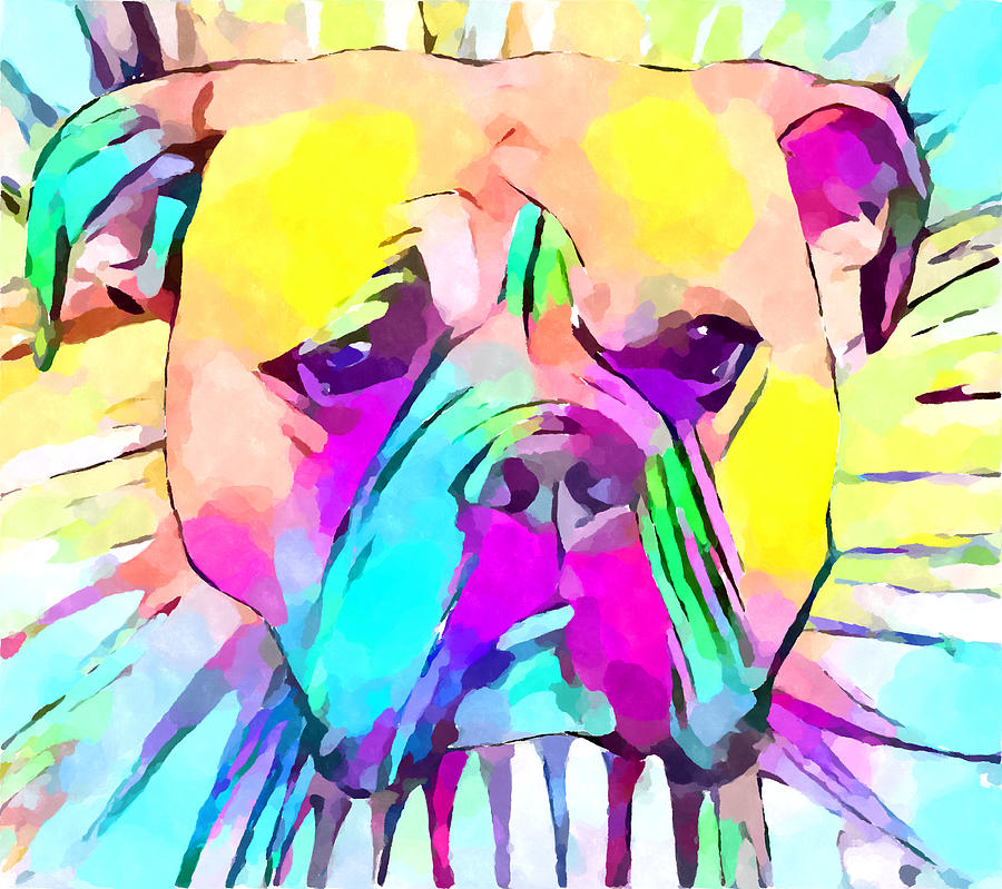 Bulldog Painting - Bulldog 2 by Chris Butler