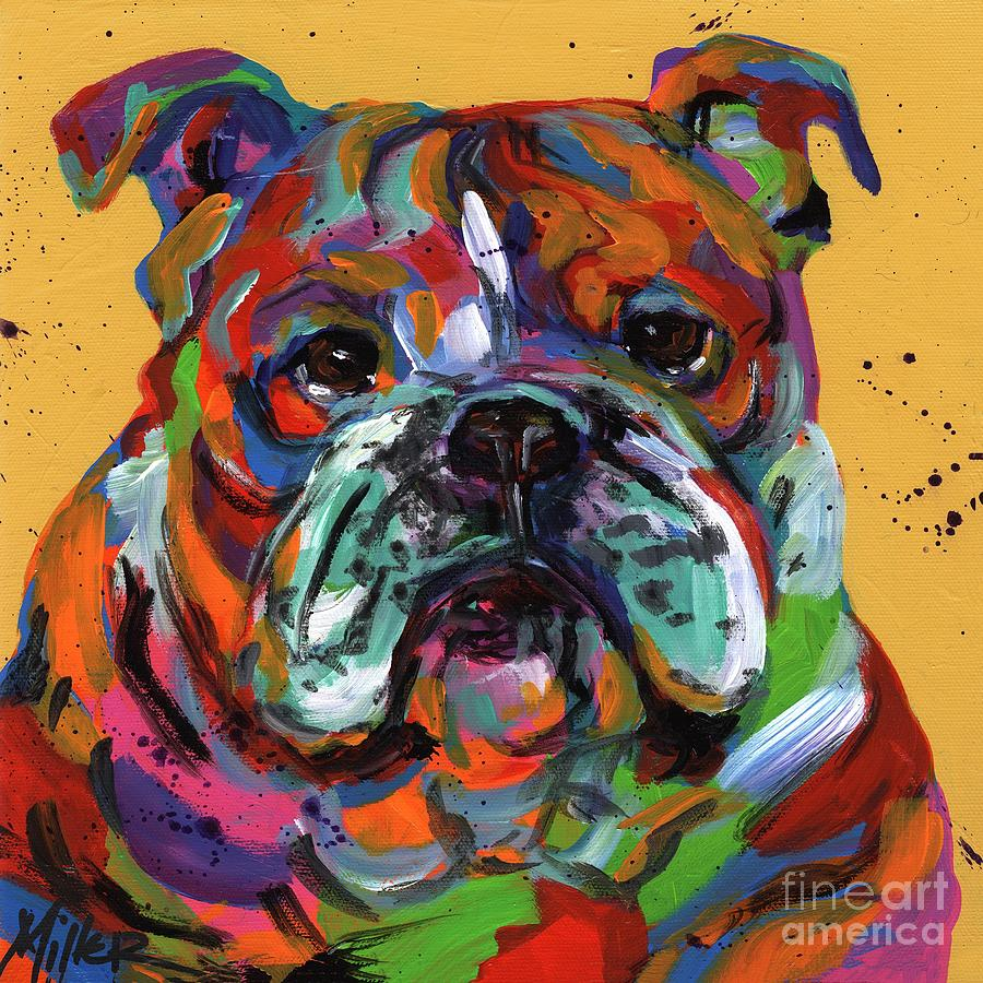 Tracy Miller Painting - Bulldog Ben by Tracy Miller