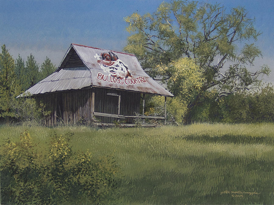 Landscape Painting - Bulldog Country by Peter Muzyka