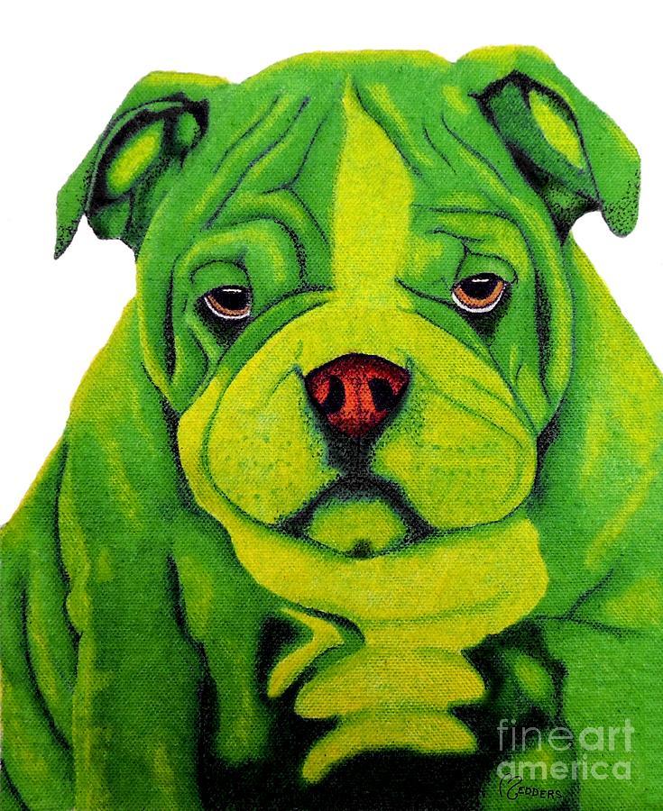 Bulldog Painting - Bulldog by Penny Medders