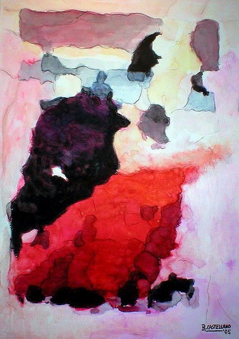 Bullfighting 1 Painting by Ramon Castellano de Torres