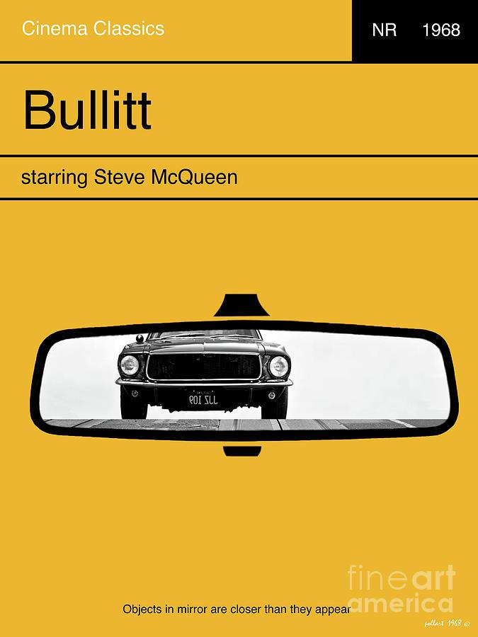 Bullitt Minimalist Movie Poster Steve Mcqueen Mixed