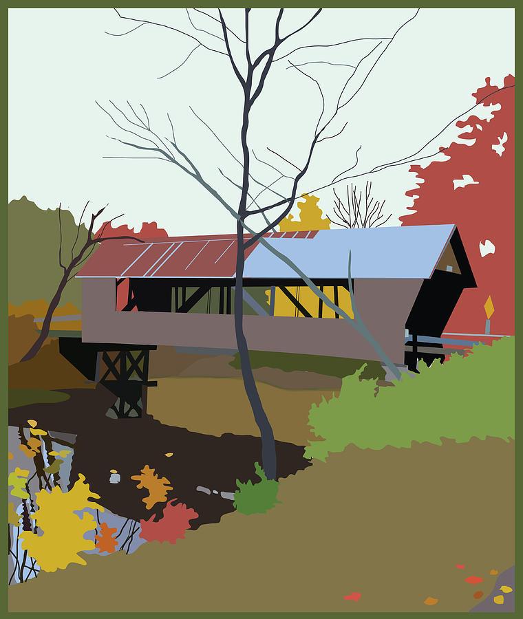 Landscape Painting - Bump Bridge by Marian Federspiel