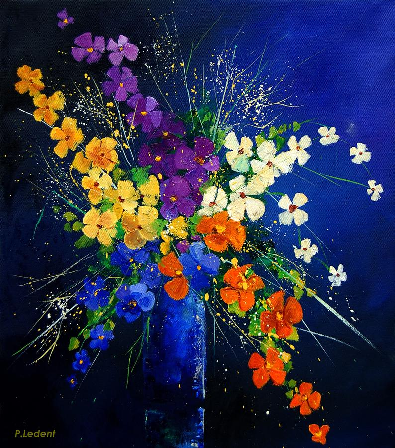 Poppies Print - Bunch 0408 by Pol Ledent