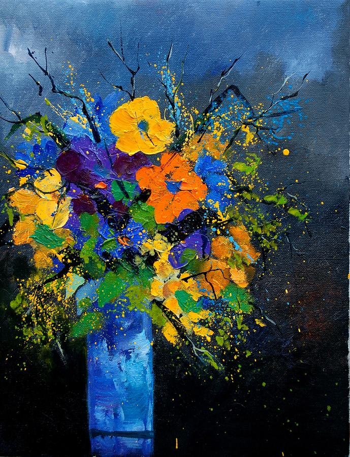 Poppies Painting - Bunch 1007 by Pol Ledent