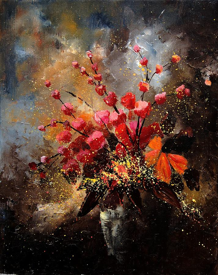 Poppies Painting - Bunch 1207 by Pol Ledent