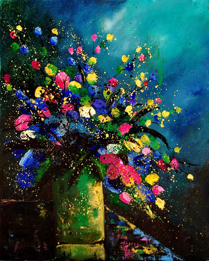 Poppies Painting - Bunch 45 by Pol Ledent