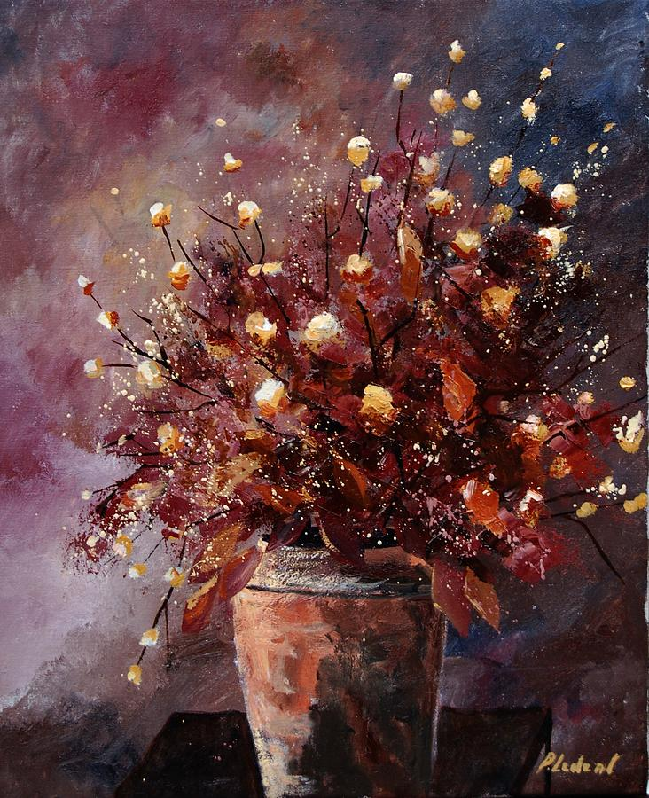 Poppies Painting - Bunch 56 by Pol Ledent
