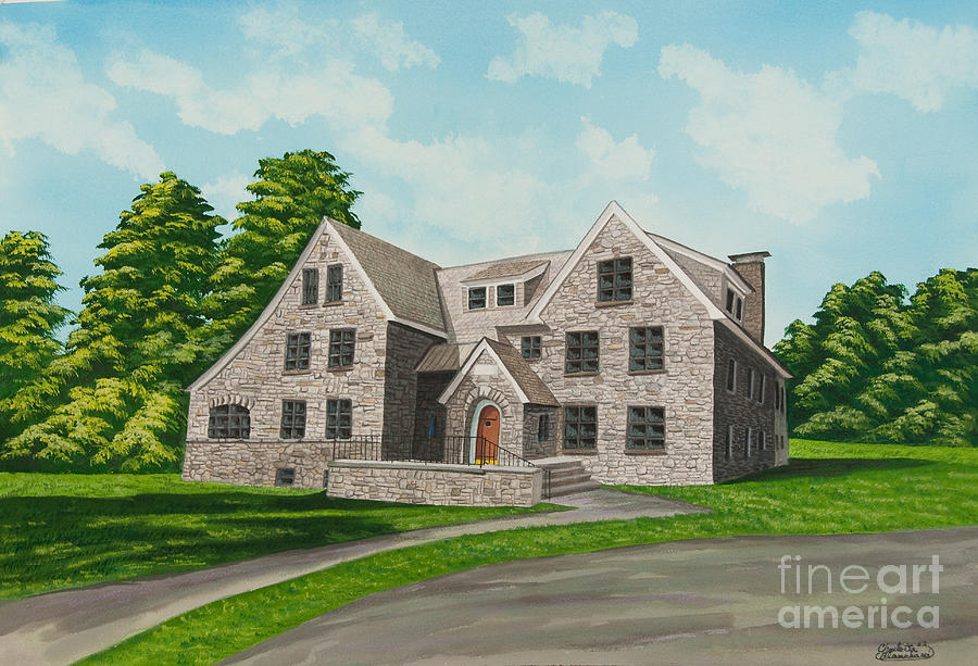 Colgate University Painting - Bunch House by Charlotte Blanchard