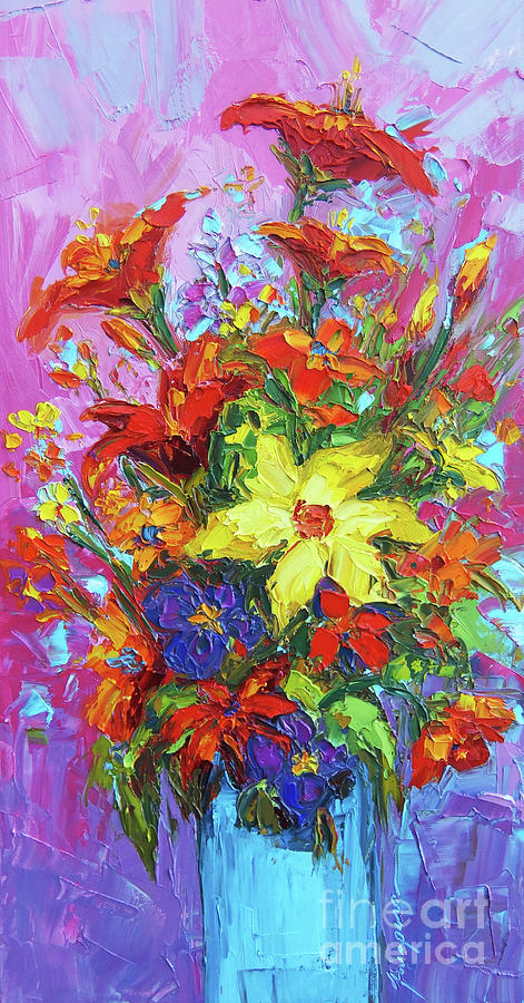 Colorful Wildflowers, Abstract Floral Art by Patricia Awapara