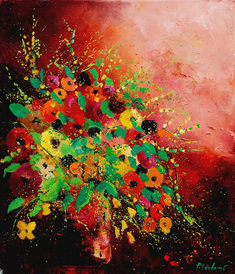 Flowers Painting - Bunch of flowers 0507 by Pol Ledent
